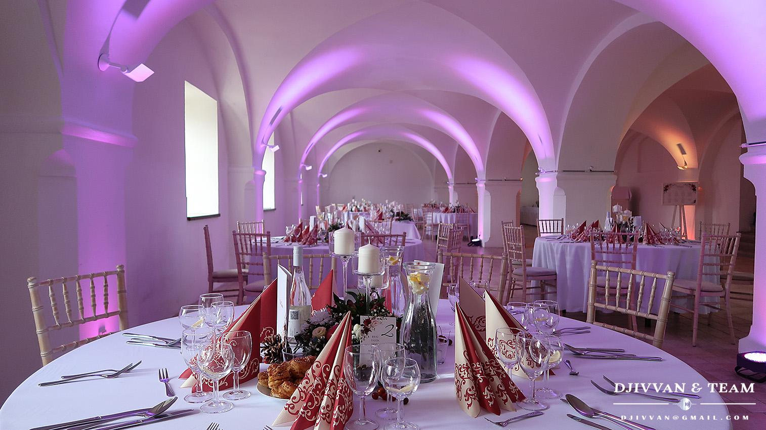 Dj na svadbu nasvietenie sály